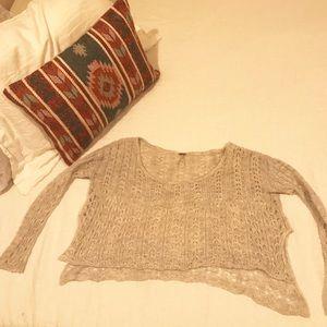 Women's Free People Cropped Crochet Sweater XS